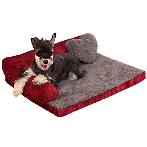AOVOI Waschbare Kennel Hund Sofa große kleine und mittlere Hund Haustier Wurf Hund Bett Pet Supplies (Pet-sofa-bett, Großes)