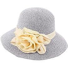 Sombrero Tipo Pamelas para Sol Verano Y Vacaciones De Mujer 8fb18cd34fa