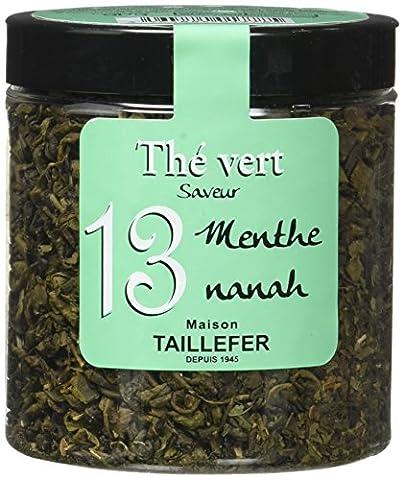 Maison Taillefer Thé Vert à La Menthe Nanah Pot 90 g - Lot de 4