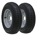 Parnells 2-10' Pulgada Remolque Rueda y Neumático 145r10 6 Lámina 430kgs 84/82n 4 Tacos 100mm Pcd