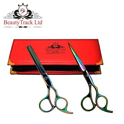 BeautyTrack Cheveux Ciseaux - Ciseaux de coiffure professionnels - Ciseaux de coiffure - longueur 6 - 6.5\\