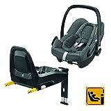 Bébé Confort Pack Siège auto Cosi Rock i-Size (45-75cm) + base FamilyFix i-Size ISOFIX ultra sécuritaire, Sparkling Grey