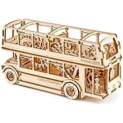 Wooden.City Autobús de Londres Autobús Maqueta de Completo de madera con mecanismo wr303