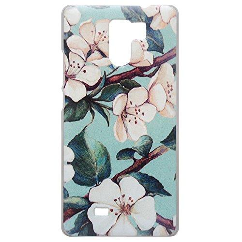 Guran® Hart Plastik Schutzhülle Case Cover für UMI Fair Smartphone Cartoon Hülle Etui-Blume