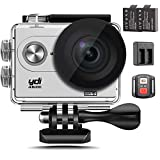 Action Kamera, YDI Wasserdicht Sportkamera Unterwasserkamera Action Camera Cam Camcorder 4K Ultra HD 1080P Wifi 12 MP 170 Weitwinkel-Objektiv mit Fernbedienung Uhr, 2 Batterien und Doppelbatterie insgesamt 23 Zubehör-Set