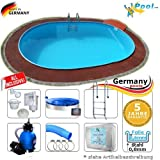 Ovalbecken 5,30 x 3,20 x 1,50 m Set Stahlwandpool Schwimmbecken Ovalpool 5,3 x 3,2 x 1,5 Swimmingpool Stahlwandbecken Fertigpool oval Pool Einbaupool Pools Gartenpool Sets Einbaubecken Komplettset
