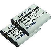2 x Dot.Foto Batterie de qualité pour Olympus LI-90B, LI-92B - 3,6v / 1270mAh - garantie de 2 ans - Olympus SH-1, SH-2, SH-50, SH-60, SP-100EE, TG-1, TG-2, TG-3, TG-4, TOUGH TG-Tracker, XZ-2