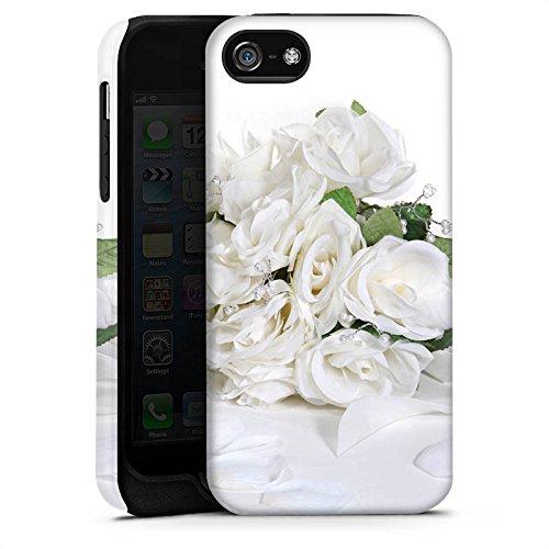 Apple iPhone X Silikon Hülle Case Schutzhülle Rosenstrauss Hochzeitsstrauss Rosenblätter Tough Case matt