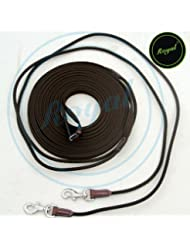 Royal Web & Cord Draw Reins, 8 Mts. Long./ Vegetable Tanned Leather./ Stainless Steel Buckles.