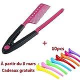 Covermason Pliage V peigne cheveux lisseur Salon de coiffure lissage brosse
