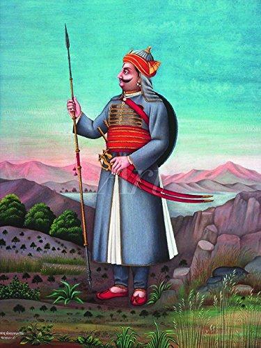 Artland Wandbild auf Alu-Verbundplatte Unbekannter Künstler Ein Edelmann von Udaipur, Indien Fantasy & Mythologie Religion Hinduismus Graphische Kunst Bunt 40 x 30 x 1 cm C9XH