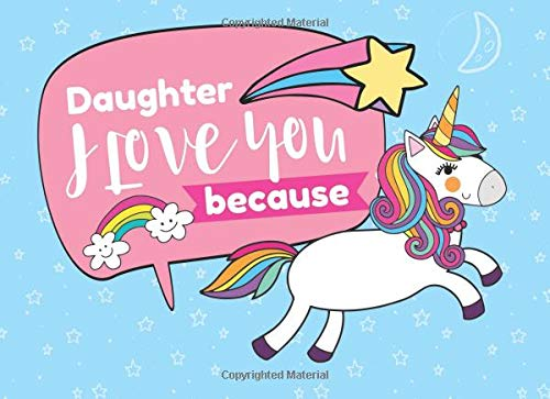 Daughter I Love You Because: Prompted Fill In The Blank Book por River Breeze Press