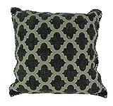 IHB Anthrazit Grau Marokkanische Vierpass-Design Baumwolle Dhurrie Kopfkissen 50,8cm