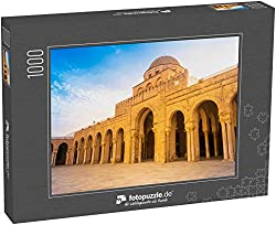 fotopuzzle.de Puzzle 1000 Teile Alte Große Moschee in Kairouan in der Sahara, Tunesien, Afrika. EIN wichtiges Ziel in Tunesien und Nordafrika