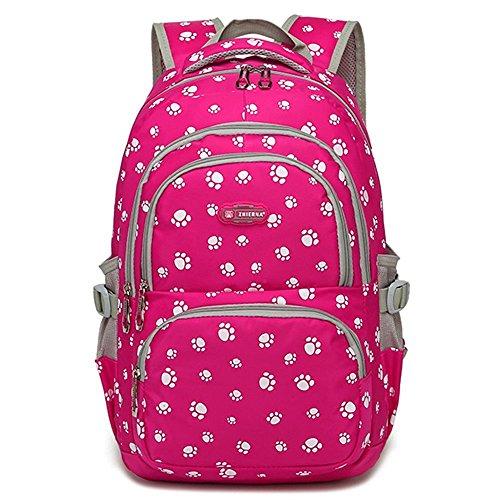 Minetom Mode Kinder Teenager Mädchen Schulrucksack Freizeitrucksack Daypacks mit der Großen Kapazität Rosa (Schulrucksack Rosa)
