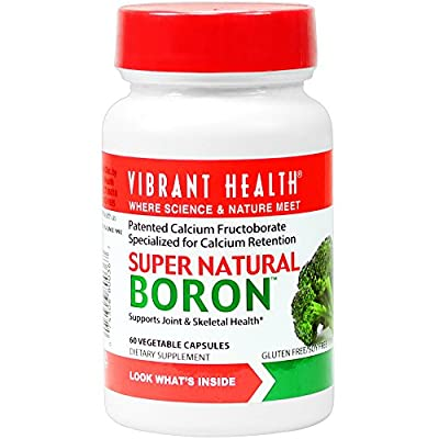 Vibrant Health Super Natural Boron (60 Vegetable Capsules, 3mg, Gluten Free) from Vibrant Health