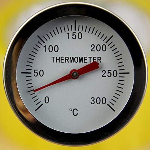 Yiwann Termómetro de cocina de acero inoxidable con lectura instantánea, termómetro de sonda de carne...