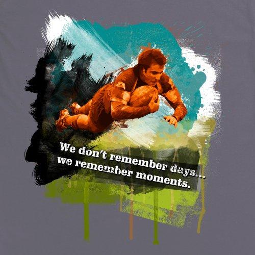 Days vs Moments T-Shirt, Herren Anthrazit
