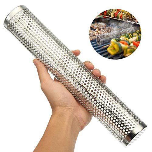 Justdolife 12 '' rifornimenti della griglia del tubo del fumatore della griglia dell acciaio inossidabile del tubo del fumatore della pallina
