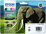 EPSON C13T24384010 Elephant 24XL (RF/AM) High Capacity 6 Colour Multipack Ink Cartridge (Black Cyan Magenta Yellow Light Cyan Light Magenta) for Expression Photo: XP-750 / XP-850 T2438