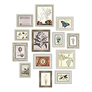 13 Multi Picture Frame Set, Photo Frame, Wall Frame Set with 13 High Quality Frames, Large photo frame wall set, Covers 1.05m x 1.27m, Best Wall Decorations, Vintage Picture Frames