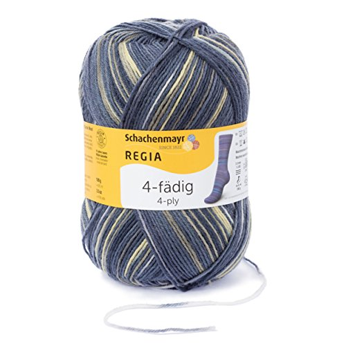Regia 4-fädig Color 9801269-04999 Atmosphere Handstrickgarn, Sockengarn, 100g Knäuel