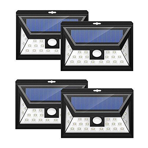 24 LEDs Foco Solar Mpow con Sensor de Angulo Ancho, Focos LED...
