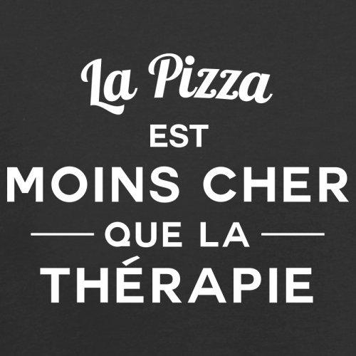 La pizza est moins cher que la thérapie - Femme T-Shirt - 14 couleur Noir