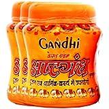 PAYODHAR ORGANIC Gandhi Herbal's Kesar Chandan Kesariya Colour Ashtagandha Kumkum - Pack of 100 g , 3 pcs (Powder Form) for holy and Religious use Tika, Tilak