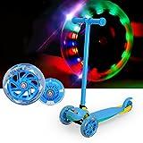 Kinderscooter, FASCOL® faltbare Kinderroller Tretroller Cityroller Scooter Roller, geeignet für: 2-5Jahre Kinder, Blau