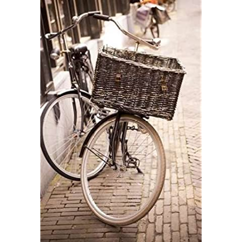 Feelingathome.it, STAMPA SU TELA 100% cotone INTELAIATA Amsterdam Bicicletta cm 102x69 (dimensioni personalizzabili a richiesta)