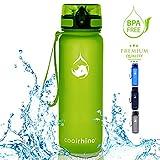 coolrhino Trinkflasche 1l für Sport, Kinder & Outdoor - Sportflasche ist auslaufsicher und BPA frei - Wasserflasche in gelb