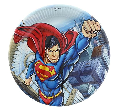 8-Assiettes-de-fte-Superman-en-carton-23cm