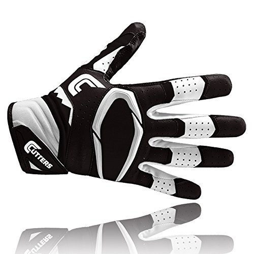 Cutters S451 REV PRO 2.0 American Football Receiver Handschuh, schwarz, Gr. L