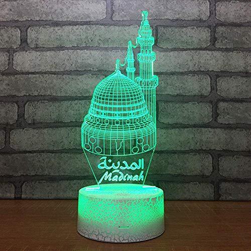 Bunte Architekturmodell kleine Nacht Fernbedienung 3D Lichter Phantasie elektronische Produkte Acryl Geschenke USB Lampen Kinder LED Nachtlicht