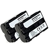 CELLONIC 2X Batterie Compatible avec Sony A7 II A77 II A99 II Alpha A57 A58 A65 A68 A200 A300 A450 A500 A550 A580 A700 A850 A900 SLT-A58 DSLR-A350 ILCA-, NP-FM500H 1400mAh NP-FM500H Accu Rechange