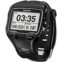 Garmin Forerunner 910XT - Reloj GPS multideportivo con correa de plástico, para hombre, color negro
