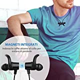 Bluetooth Headphones,TaoTronics Bluetooth Wireless Magnetic Sports Running Headphones, IPX5 Splash Proof Magnetic Earphones with Snug Fit and Built in Mic