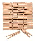 Glorex 6 2200 653 Wäscheklammern, aus Birkenholz, ca. 72 mm, 24 Stück