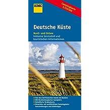 ADAC Campingkarte Deutsche Küste (ADAC Campingführer)