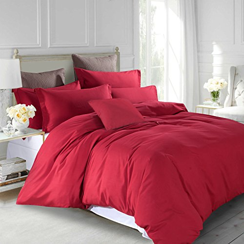 Plain Dye Duvet Set RedPain Dye Duvet Set Pillowcases