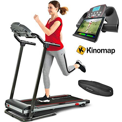 Sportstech F10 Tapis de Course Pliable, Pilotage par Application Smartphone, autolubrification,...