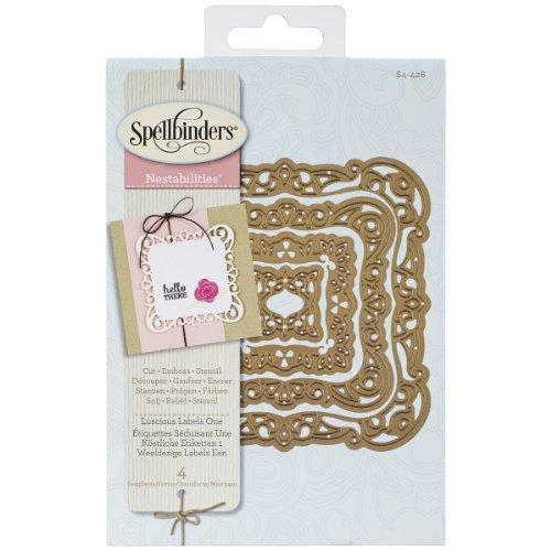 Spellbinders Nestabilities elementi decorativi Dies-Luscious etichette