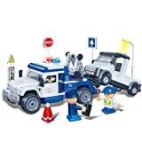 Banbao - 245 Piece Police Tow Truck Compatible with the Leading Brand - Boy Boys Child Kids - Ultimate Construction Building Blocks Birthday Present Gift Age 5+