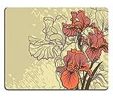 Liili Mauspad Naturkautschuk Mousepad Dekorative Designs von Iris Blumen Bild-ID 23010065