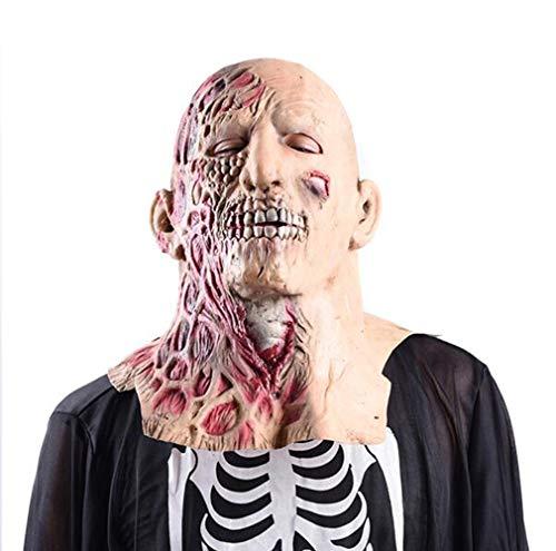 TINGTING Halloween Maske Zweiseitige Menschen Adult Latex Scary -