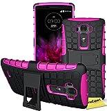 LG G Flex 2 Handy Tasche, FoneExpert® Hülle Abdeckung Cover schutzhülle Tough Strong Rugged Shock Proof Heavy Duty Case für LG G Flex 2 + Displayschutzfolie (Blau)