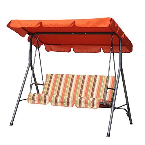 Angel Living Hollywoodschaukel Gartenschaukel 3 Sitzer mit Sonnenschutz 173x110x151cm