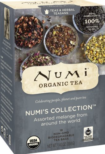 Numi Organic Tea Numi's Collection, Assorted Full Leaf Tea and Teasan, 18-Count Tea Bags (Pack of 3)