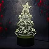 Best General Electric Christmas Trees - Fushoulu 3D Lamp Multicolor Star Christmas Tree 3D Review